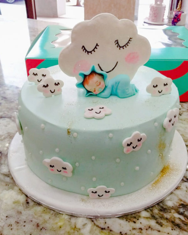 Baby and Cloud Cake