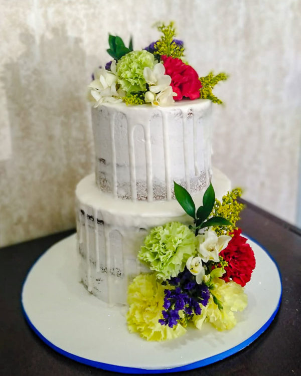Two Tier Flower Cake