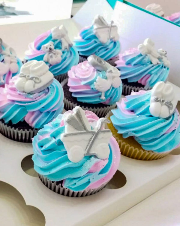 Baby Shower 2 Cupcakes