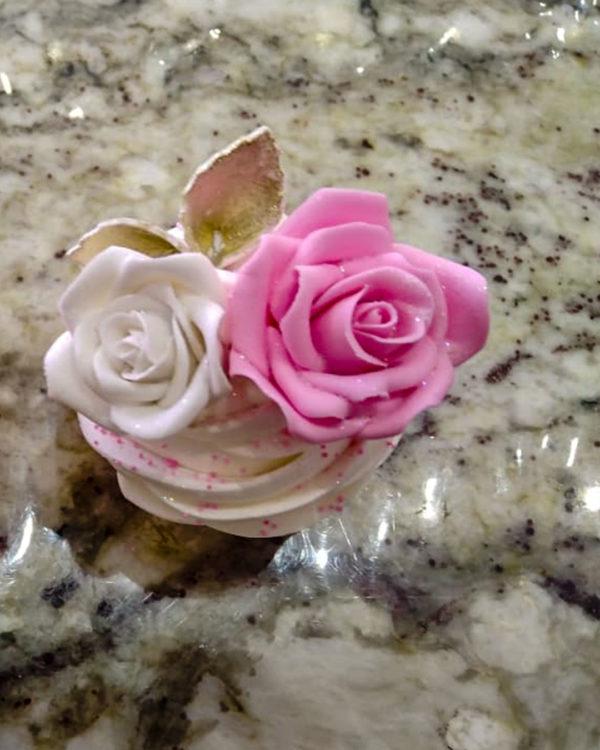 Flower Fondant (Big) Cupcakes