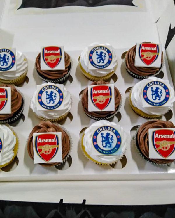 Football Logo Cupcakes