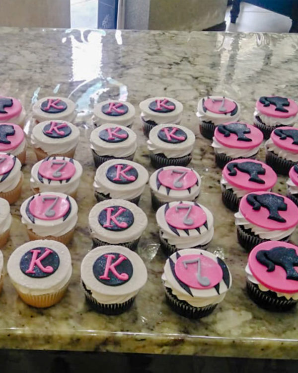 Letters & Number Cupcakes