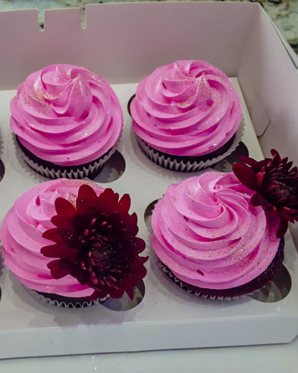 Pink Glitter Cupcakes